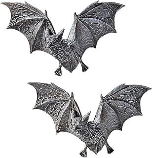 Design Toscano PD0054 Vampire Castle Barbarosa Wall Sculptures-Bat Figure, Set of 2, 2 Count