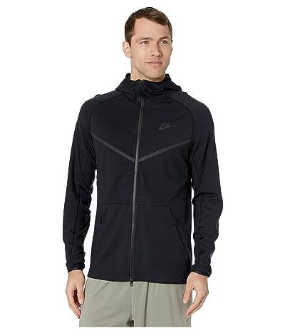 Nike NSW Hoodie Full Zip Ponte (Black/Black/Black) Men