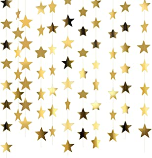 Gold Stars Hanging Decoration Garland Banner Pastel Star Garland Bunting For Weddings Party Childrens Rooms Mosquito Nets Room Choice Materials Crib Netting