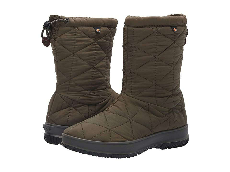 Bogs Snowday Mid (Dark Green) Women