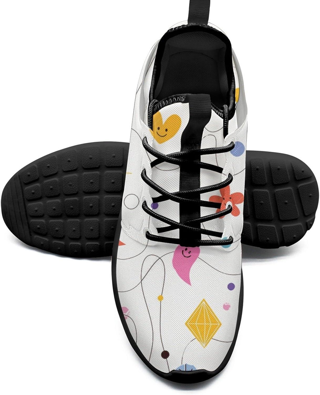 Women's Fashion Lightweight Volleyball Sneakers Abstract Art Cartoon Pattern Original Running shoes