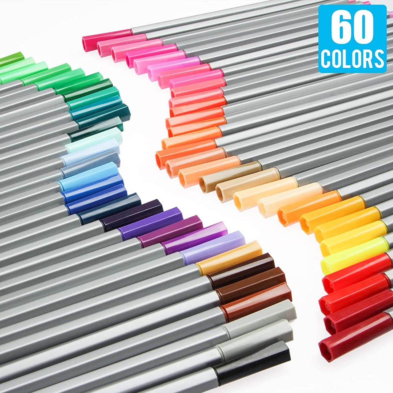 [60 Colors] 0.4 mm Micro-Pen Fineliner Ink Pens, Super Fine Point Liner Pen,Multi-Liner, Sketching, Anime,Artist Illustrating Drawing,Technical Drawing,Office Documents ngvkjo850