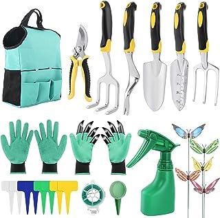 Gobesty Juego de Herramientas de jardín, 14 Piezas Juego de Herramientas de jardinería, Juegos de Herramientas de jardiner...