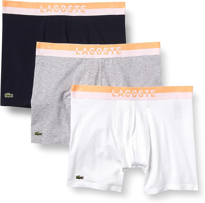 Lacoste Men's Casual Classic 3 Pack Cotton Stretch Briefs