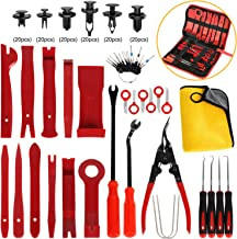 AUTMOR 38Pcs Trim Removal Tool & 120 Pcs Car Retainer Clips, Pry Kit, Car Panel Tool Radio Removal Tool Kit, Auto Clip Pliers Fastener Remover Pry Tool Kit, Car Upholstery Repair Kit with Storage Bag