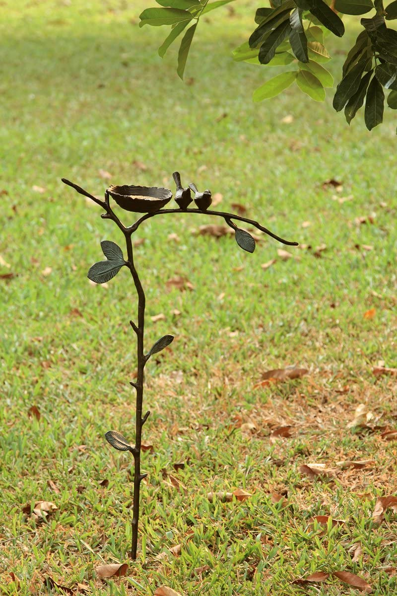 Spring new work SPI Home trend rank 33292 Lovebird Feeder Bird Garden Stake