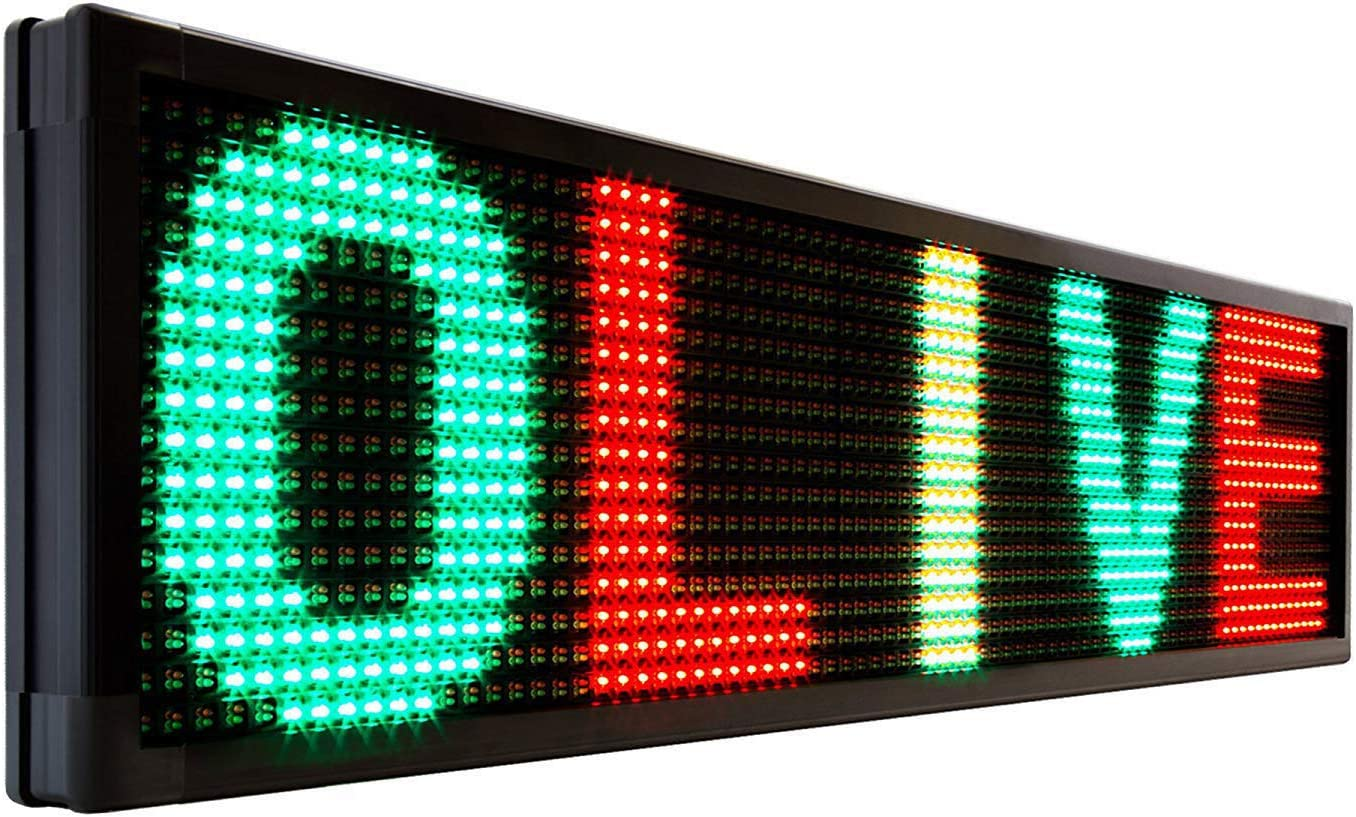 Fees free OLIVE LED Sign 3Color RGY P20 PC 15