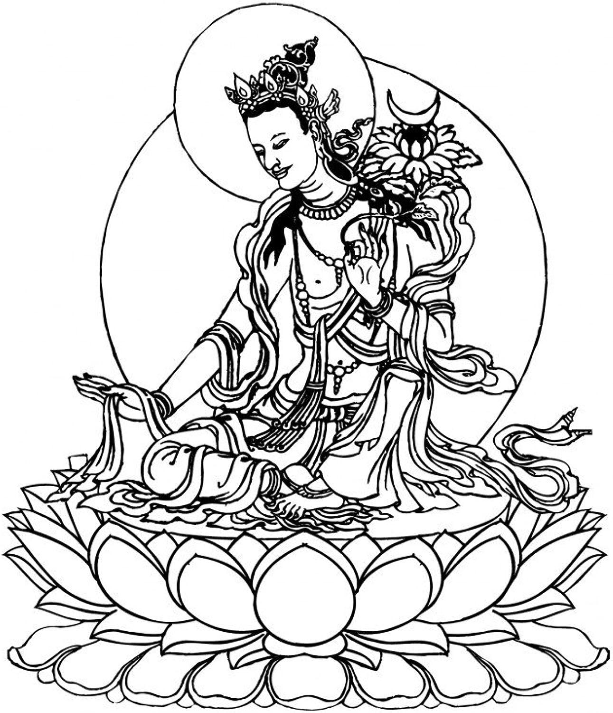 Lebensfreudeladen Mandala Leinwandmalvorlage - Buddha 282 90 x 100 cm B00G2A6UV0 | Sofortige Lieferung