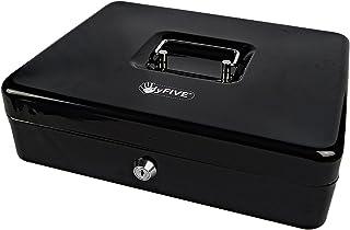 """Hyfive 12"""" acier Noir Argent Petite caisse de sécurité porte-clés avec sécurité"""