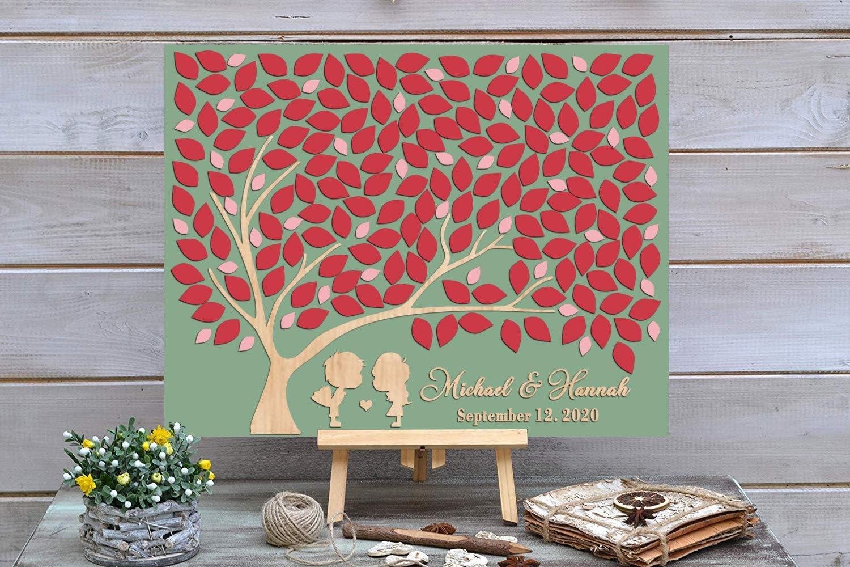PotteLove 3D Love Tree Large-scale sale Classic Wedding Guest Book Custom - C Alternative