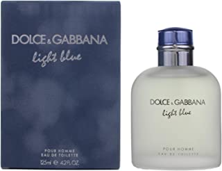 Dolce & Gabbana Eau de Toilettes Spray, Light Blue, 4.2 Fl Oz For Men or/and Pour Homme