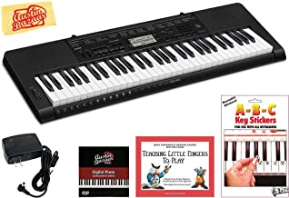 Casio CTK-3500 Portable Keyboard Bundle with Power Supply, Removeable Stickers, Instructional Book, Austin Bazaar Instructional DVD, and Polishing Cloth