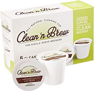 Clean 'n Brew Only All-Natural Cleaning Cups for Keurig K-cup machines - Compatible with Keurig 2.0, Removes Stains, Non-Toxic, No Harsh Chemicals