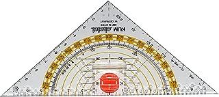 Kum 209.12.01 16cm PMMA Crystal Clear Acrylic Compass Triangle