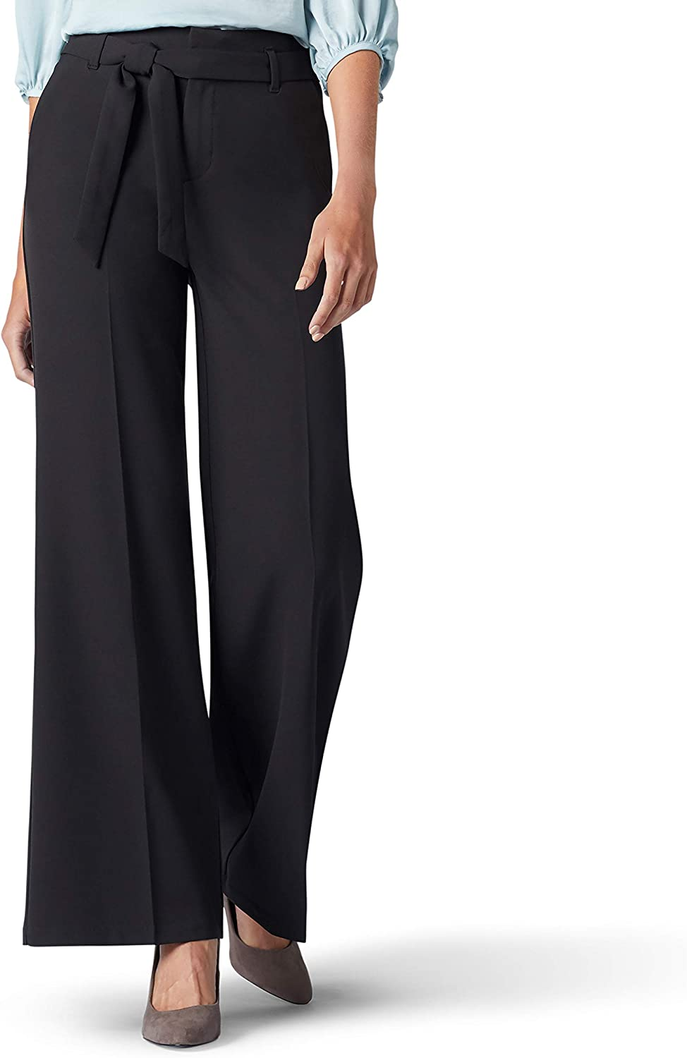 Lee Womens Standard Flex Motion Regular Fit Wide Leg Self Tie Pant