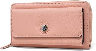Bulk Cargo Womens RFID Wallet Clutch Zip Around Organizer (Spice Coral)