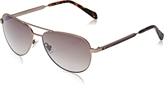Fossil Women's Fos 3065/s Aviator Sunglasses, MATTEBROWN, 58 mm
