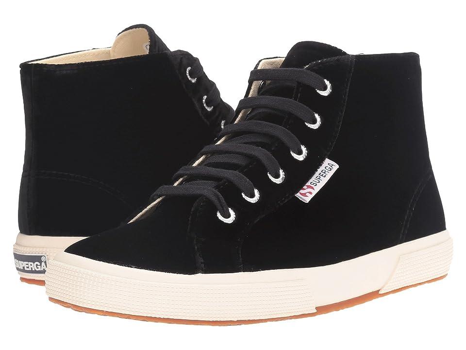 Superga 2095 Velvetw (Black) Women's Lace up casual Shoes