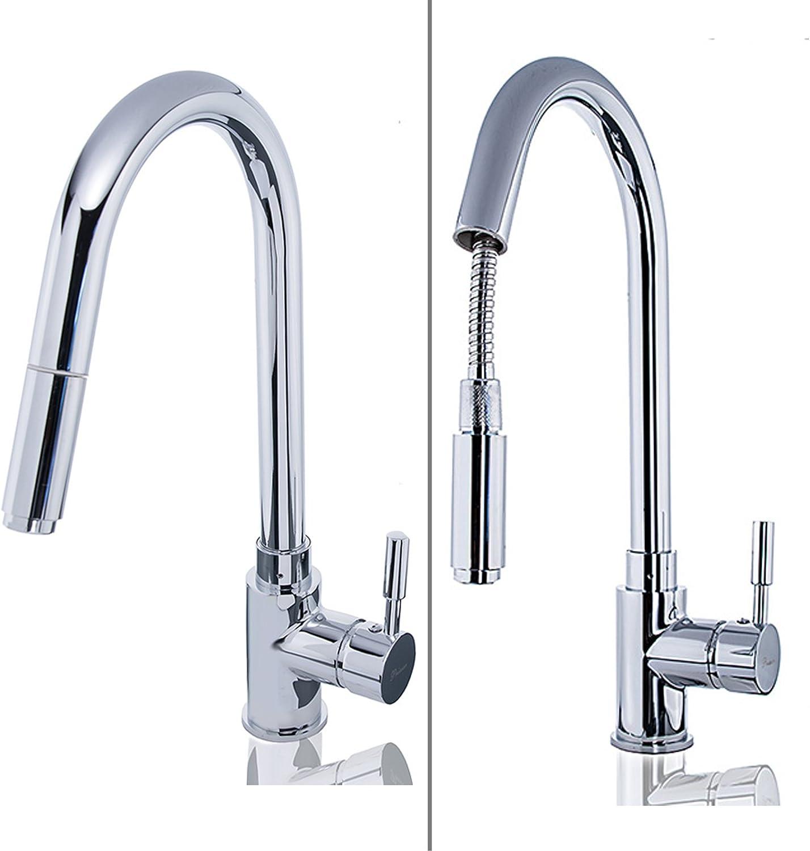 W83?Low Pressure Kitchen Sink Mixer Tap with Shower Hose   Luxury Edition Kitchen Bathroom Tap Kitchen Basin Mixer Tap Single Lever