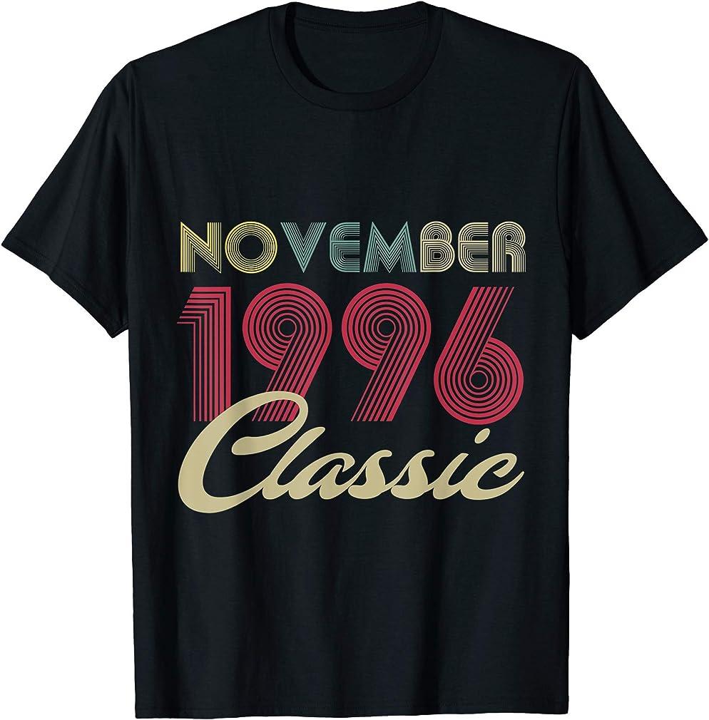 Classic November 1996 Bday Men Women Gifts 24th Birthday T-shirt