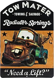 Open Road Brands Vintage Retro Metal Tin Signs - Tow Mater Embossed Tin Sign - Great for Man Caves, Wall Art, Home Decor and Much More