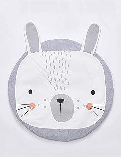 Newborn Play mat fence,Baby Play Mat Cotton Floor Gym,Children's baby play blanket, round cotton room decorative cushion,V...