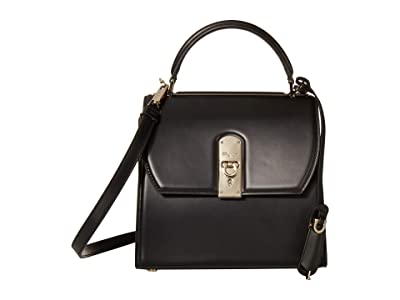 Salvatore Ferragamo Boxy Top-Handle (Nero) Handbags