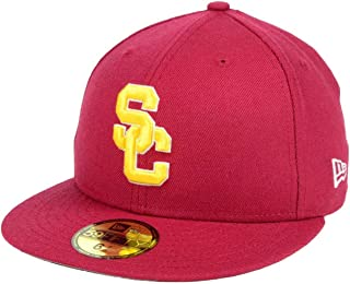 New Era 59Fifty Men's Hat Trojans USC College Cardinal Red 2016 Classic Fitted Cap