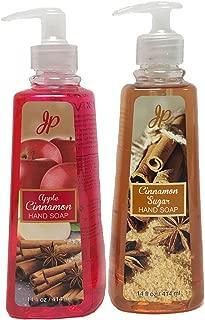 Fall Autumn Scented Nourishing Handwash Soap Pack of 2 Scents 14 fl oz each (Apple Cinnamon & Cinnamon Sugar)