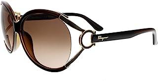 Salvatore Ferragamo Sunglasses SF600S 220 Pearl Dark Brown 61 14 130