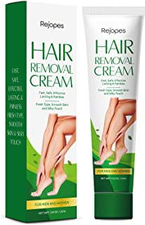 REJOPES Hair Removal Cream - Painless Flawless Depilatory Cream, Gentle & Soothing for Women and Men, 110g
