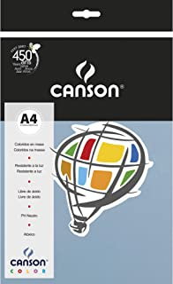 Papel Colorido A4 120g/m², Canson, 66661225, Azul Claro, 15 Folhas