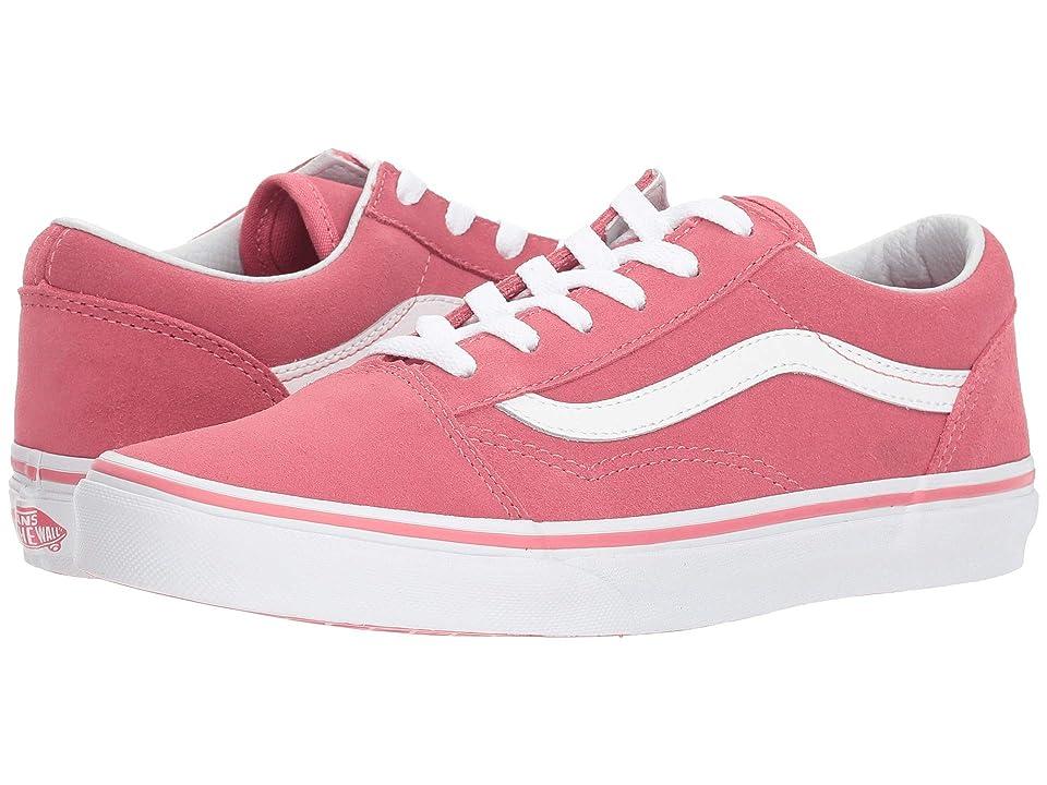 Vans Kids Old Skool (Little Kid/Big Kid) ((Suede) Desert Rose/True White) Girls Shoes