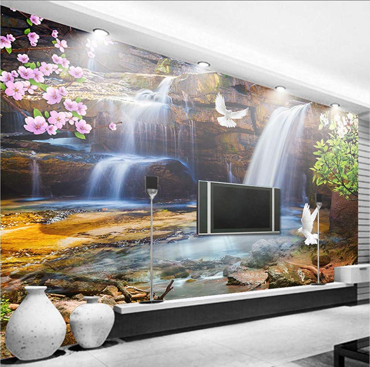 100% autentico Mural Papel Papel Papel Pintado 3D Personalizado Para Parojoes Rollo Cascada Agua Corriente Paisaje Natural Mural Grande 3D Foto Papel TapizDormitorio-200X140CM  genuina alta calidad