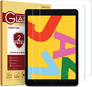 [2 Pack] OMOTON Screen Protector for iPad 7th Generation (10.2 Inch, iPad 7, 2019) / iPad Air 3 2019 / iPad Pro 10.5 - Tempered Glass/High Definition/Bubble Free