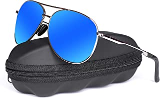 anteojos de sol polarizadas Aviator para hombre, goudi, marco de metal, protección UV 400, para hombre y mujer, espejo, anteojos de sol 8002
