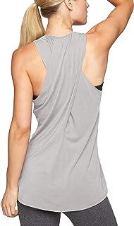 Bestisun Women's Racerback Tank Top Crossover Back T-Shirt Casual Workout Shirt