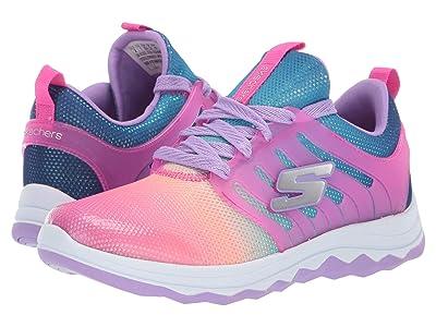 SKECHERS KIDS Diamond Runner 81562L (Little Kid/Big Kid) (Neon Pink/Multi) Girl