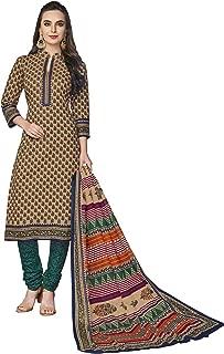 FashionRiti Women's Cotton Printed Straight Stitched Salwar Suit Set (R-5569)