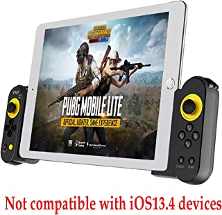 PG-9167 Controller Gamepad for iOS/Android Smart Phone Tablet PC,can be Operated with one Hand or Both Hands & Direct Connection Directly Play Game
