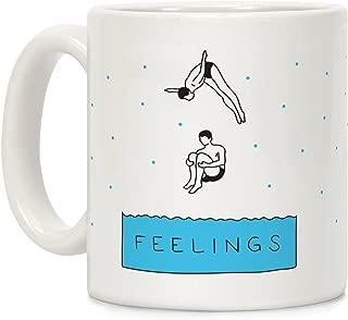 LookHUMAN Diving Into Feelings White 11 Ounce Ceramic Coffee Mug