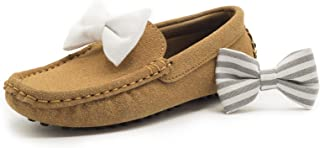 Sponsored Ad - EmaNeo Loafers Moccasins Bow Set for Boys Girls, Slip On Casual and Dress Shoes (Toddler/Little Kid/Youth)