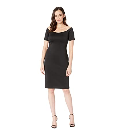 Calvin Klein Scuba Sheath Dress CD8M16YN (Black) Women