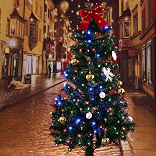 圣诞串灯65英尺20 LED变色圣诞节树太阳能童话灯8种照明模式用于室内室外派对花园婚礼装饰的防水闪烁灯.