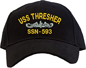 USS Thresher SSN-593 Embroidered Baseball Cap - Black