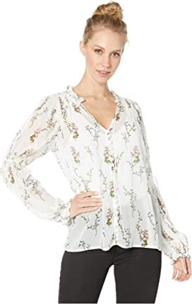 a7461eb772 1.STATE Long Sleeve Bloomsbury Floral Cold Shoulder Blouse at Zappos.com