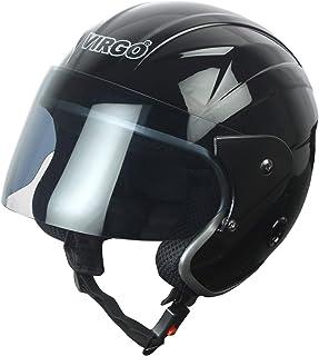 Virgo TrekFinger Glossy Tinted Open Face Helmet (Black)