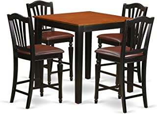 East West Furniture Kitchen Set, Black and Cherry