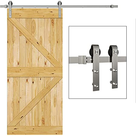 Sliding Modern Sliding Barn Door Hardware Track Roller Kits J Shape System Set