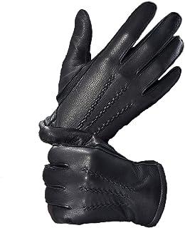 YISEVEN Mens Deerskin Leather Warm Cashmere Lined Dress Luxury Vintage Gloves